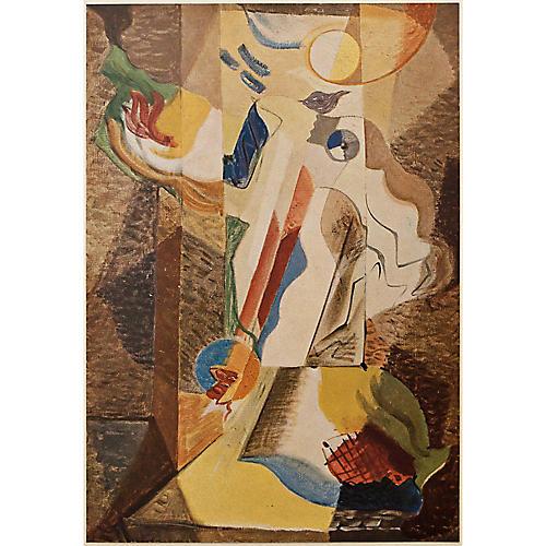 André Masson Parisian Plate, 1947