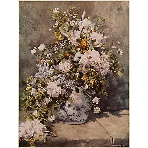 1950s Flower Still Life by Renoir