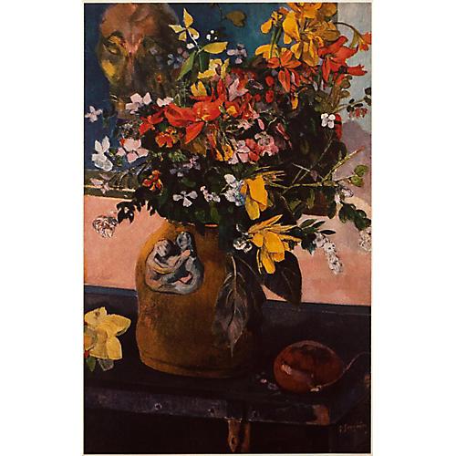1950s Gauguin Still Life w/ Flowers