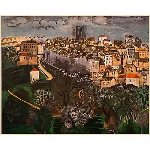 Raoul Dufy Vence Lithograph, C. 1950