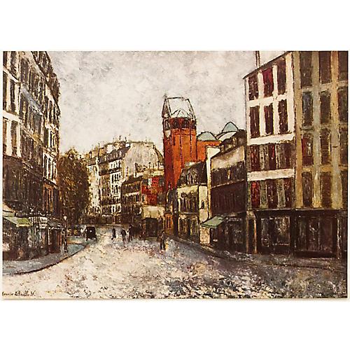 M. Utrillo Rue des Abbesses, 1954