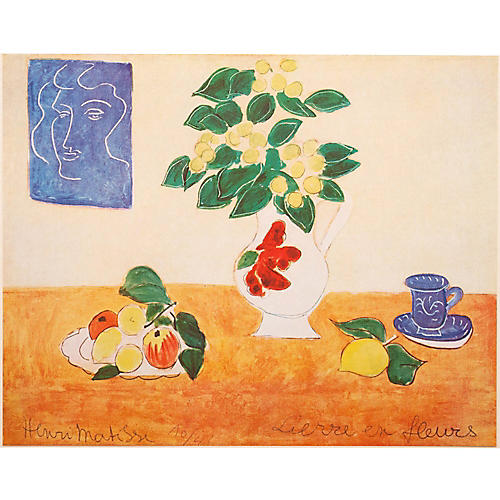 Henri Matisse Flowers Lithograph, 1947