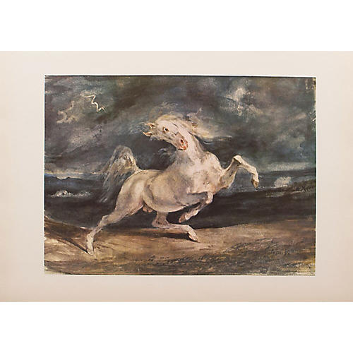 Frightened Horse by Delacroix, 1959