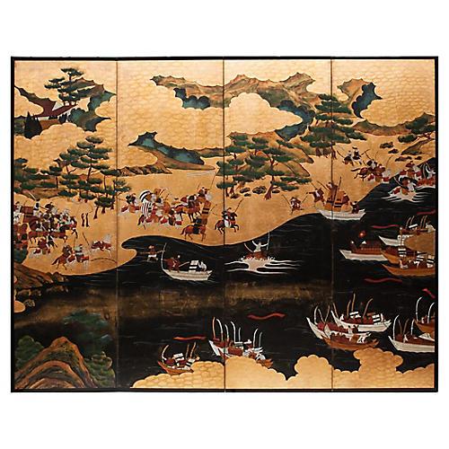 Battle of Yashima, Taishō Era Screen