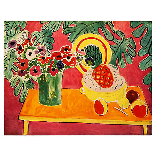 1940s Matisse Pineapple Lithograph