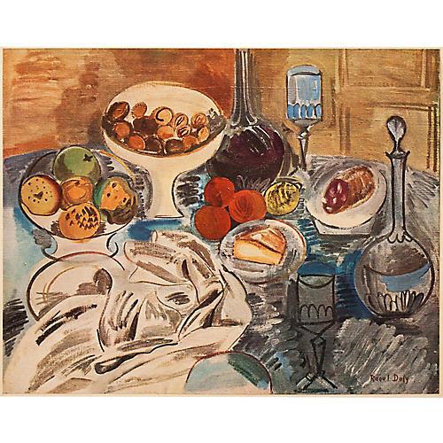 1940s Raoul Dufy, Still Life