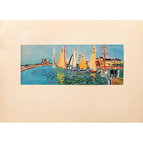 1940s Raoul Dufy, Deauville Regatta