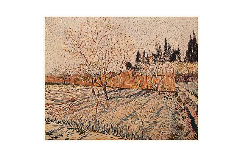 1950s Van Gogh, Orchard, Springtime