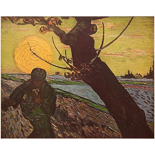 "1950s Vincent van Gogh, ""The Sower"""