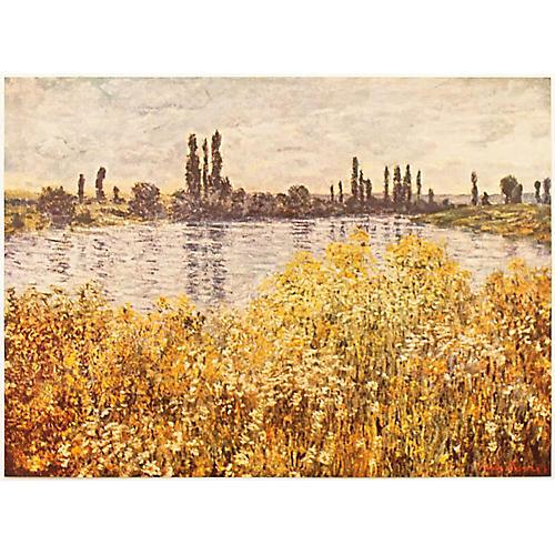 Monet Banks of the Seine Print, C. 1950