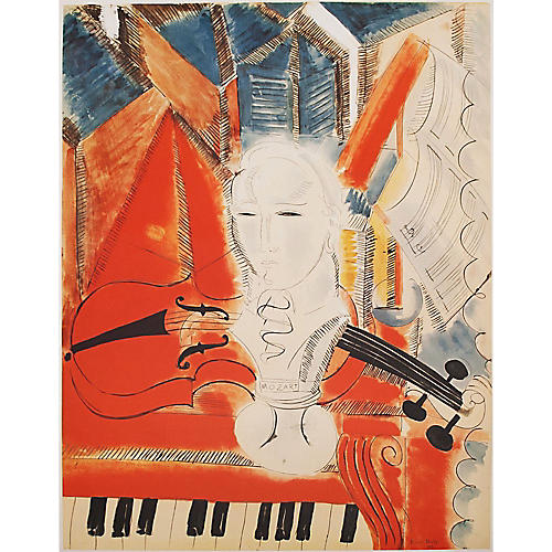 R. Dufy, Homage to Mozart XL Lithograph