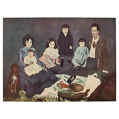 1948 Picasso Soler Family, COA