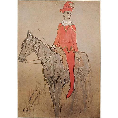 1948 Picasso Clown a Cheval, COA