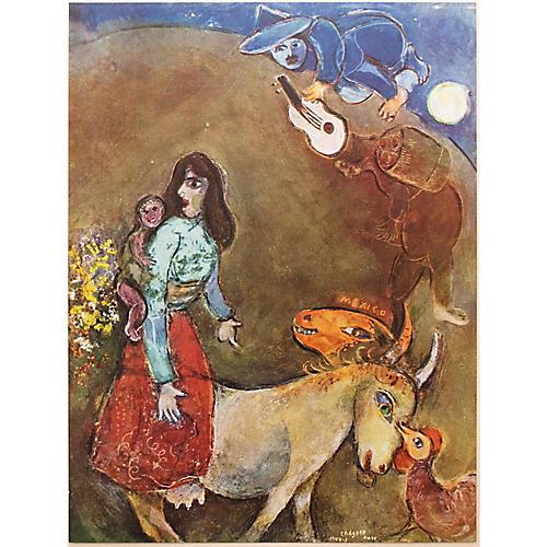 1947 Chagall, La Guitare Endormie, COA
