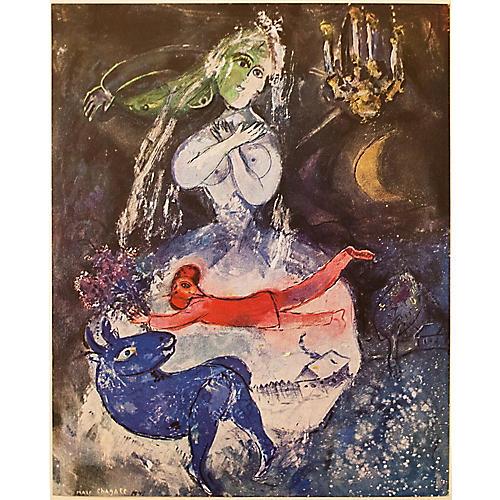 1947 Chagall La Somnambule w/ COA