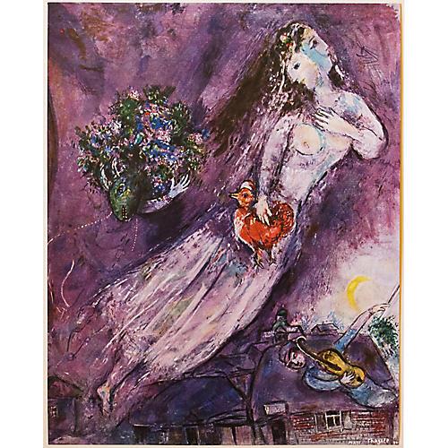 1947 Chagall Le Filigrane Violet, COA