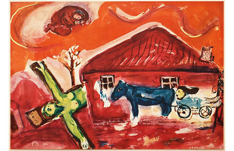 1947 Chagall Via Dolorosa w/ COA