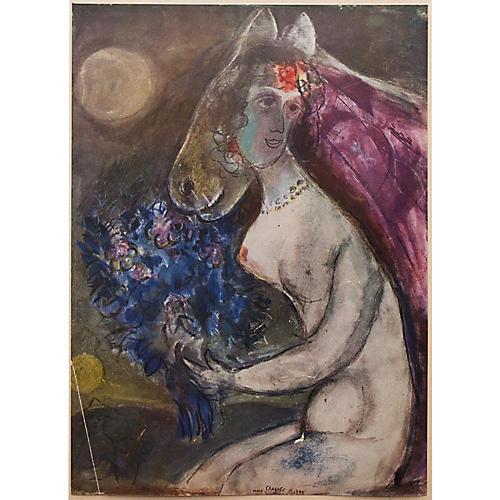 1947 Chagall Moonlight w/ COA
