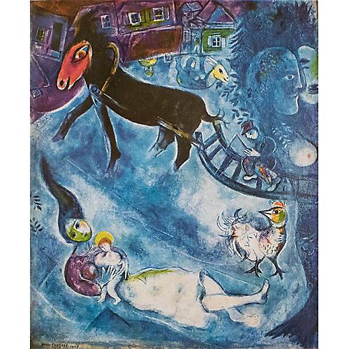 1940s Chagall, Madonna & the Sledge