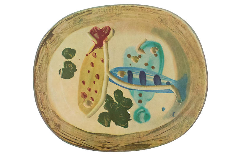 1955 Picasso Fish & Olives Plate Print
