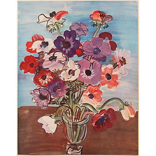 1940s Raoul Dufy, Bouquet