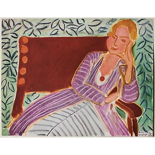 1946 Matisse, Girl in the Persian Dress