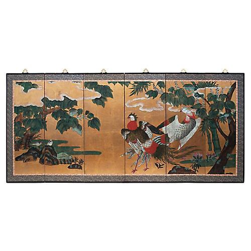 6-Panel Japanese Byobu Screen