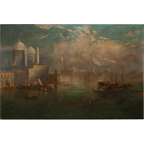 Antique Oversize Venice Cityscape