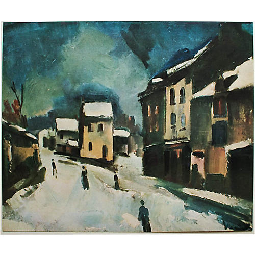 Maurice Vlaminck, Bougival Under Snow