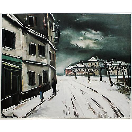 1930s Maurice Vlaminck, Winter Landscape