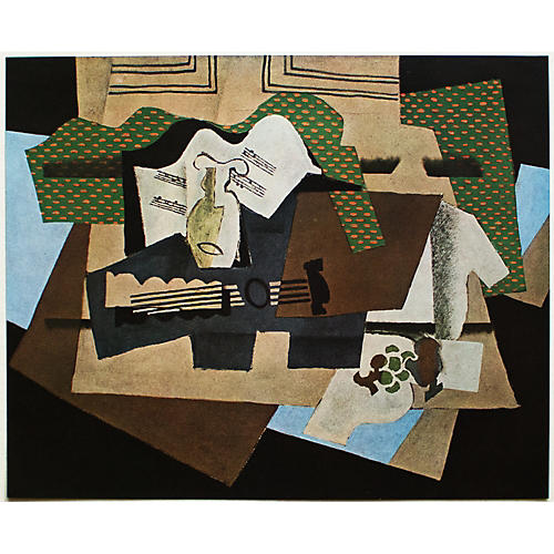 Georges Braque, The Glass and Guitar