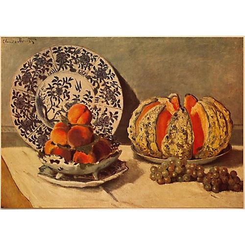1930 Claude Monet, Still Life w/ Melon