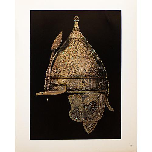 16th-C. Helmet, Gold-Foiled Photogravure