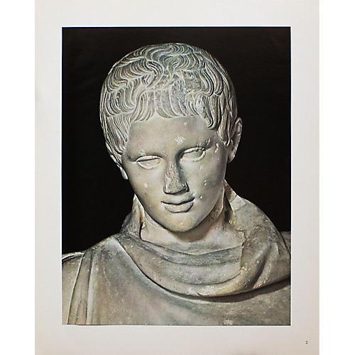 Head of Marble Statue Photogravure, 1940