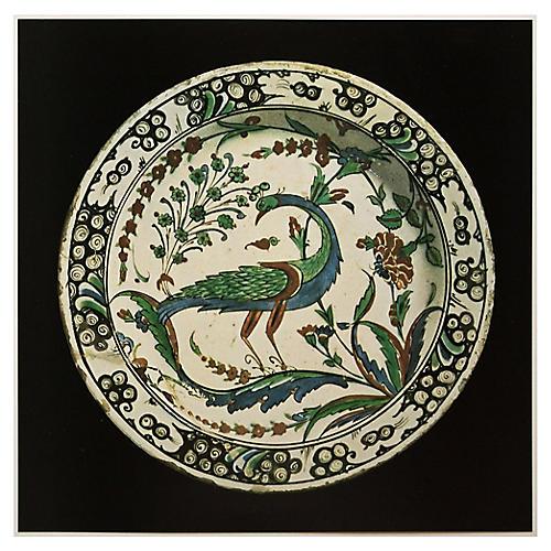 Print of 16th-C. Faience Dish from Iznik