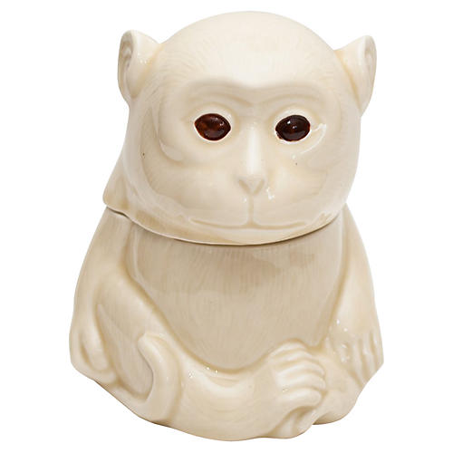 Japanese Porcelain Monkey Box