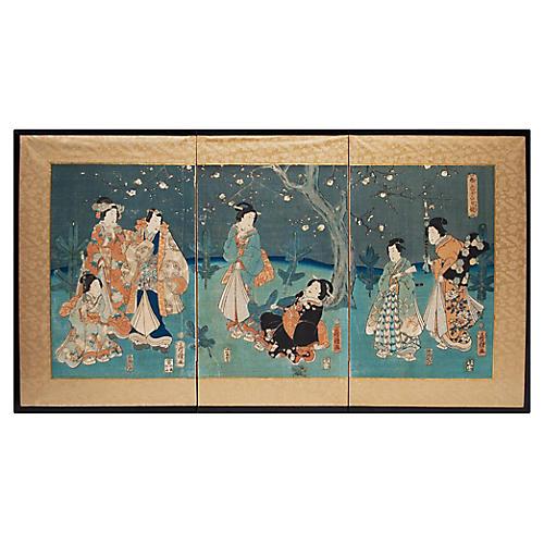 Edo Era Matsushima Masakichi Screen