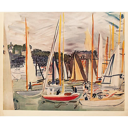 Raoul Dufy Harbor at Deauville, 1954