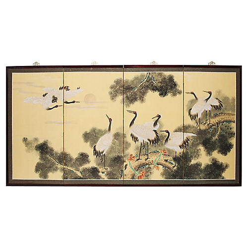 C.1960s Red-Crowned Cranes Screen