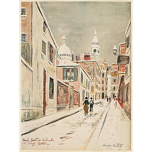 M. Utrillo Parisian Street, 1954
