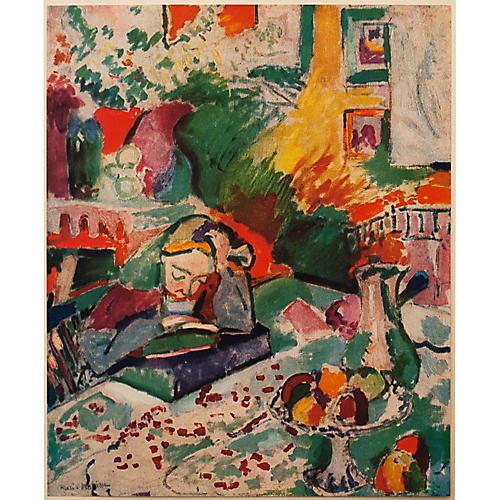 """1940s H. Matisse, """"Reading"""""""