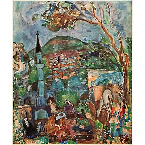 1953 Menahen Shemi, Safed Landscape