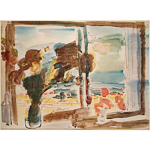 1953 Zaritzky, Flowers on a Windowsill