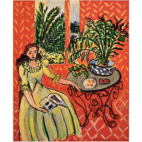 1948 Matisse, Young Girl in Green Dress