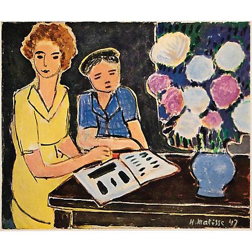 Matisse, Two Little Girls w/ Peonies