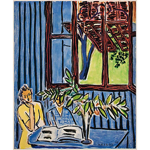 1948 Matisse, Girls in Blue Interior