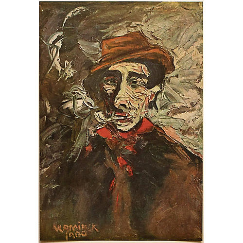 1947 Maurice Vlaminck, Man in Red Scarf