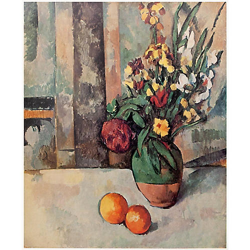 Paul Cezanne, Vase of Flowers and Apples