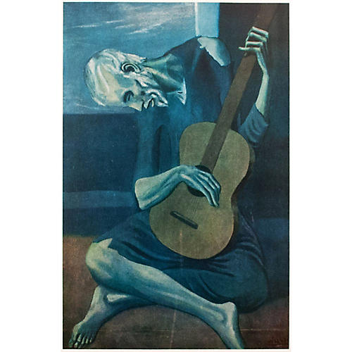 1950s Pablo Picasso, The Old Guitarist