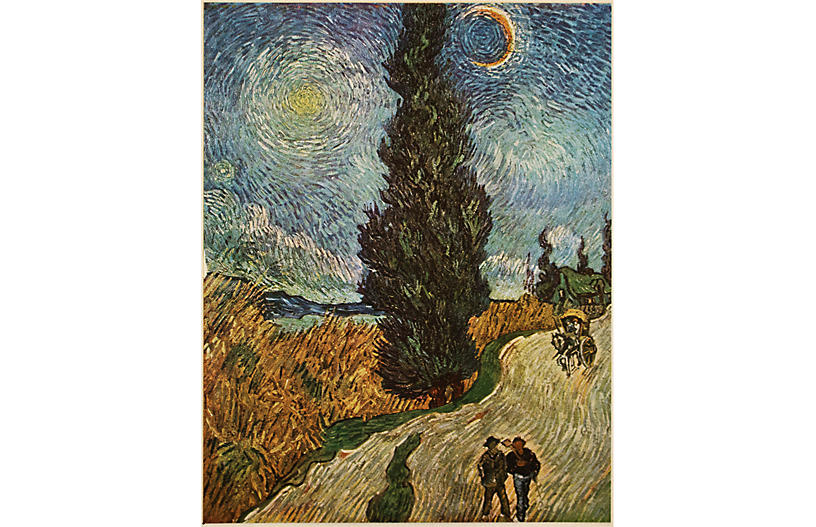1947 Van Gogh, The Road With Cypress
